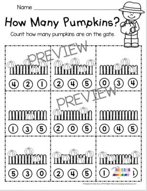counting pumpkin seeds worksheet