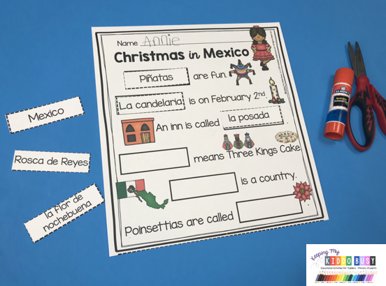 Christmas in Mexico worksheets