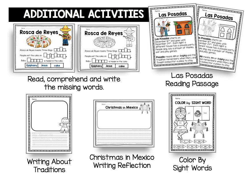 las posadas reading passage for first grade kindergarten free