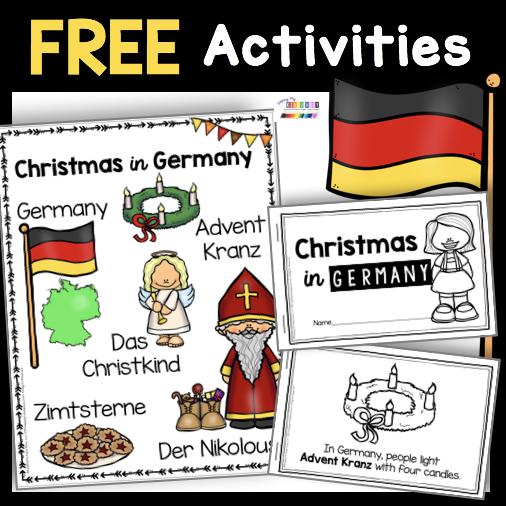 free Christmas in Germany book saint Nicholas activity printable