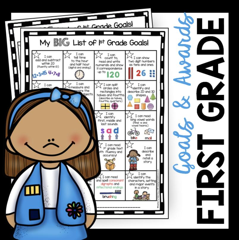 first grade SMART goals
