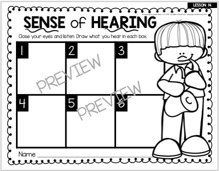 sense of hearing activity kids
