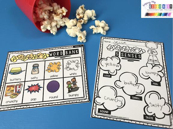 popcorn five senses activity preschool pre-k kindergarten