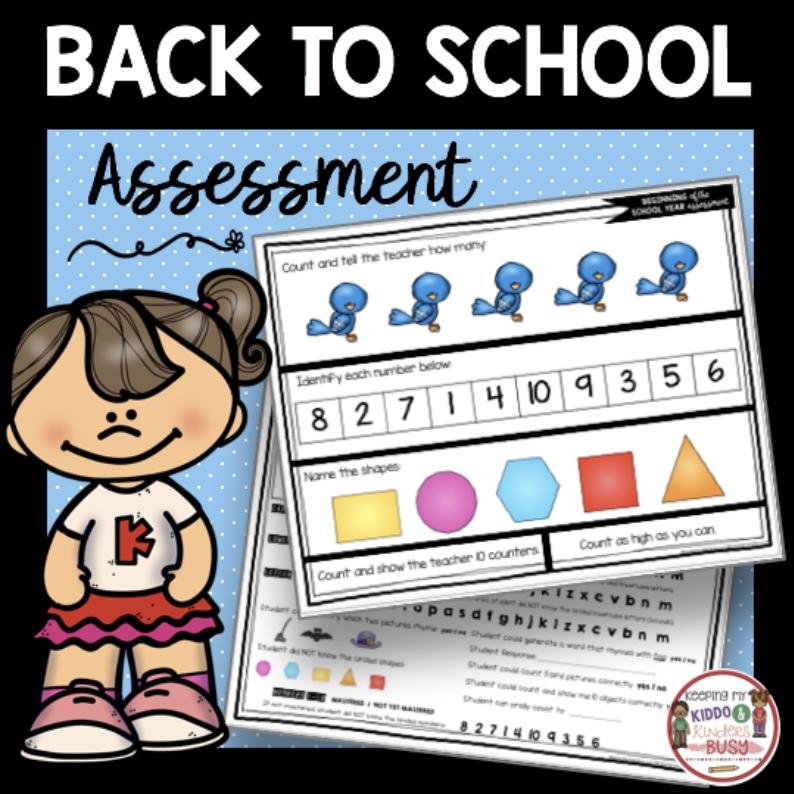 free kindergarten report card assessment kit