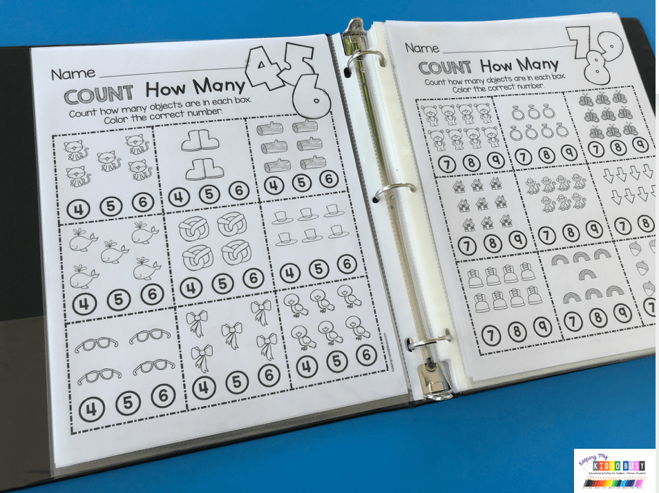 Counting And Cardinality FREEBIES — Keeping My Kiddo Busy