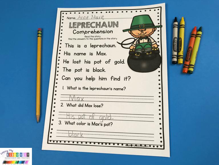 March Math & ELA Kindergarten Pack - No Prep FREEBIES — Keeping My Kiddo  Busy
