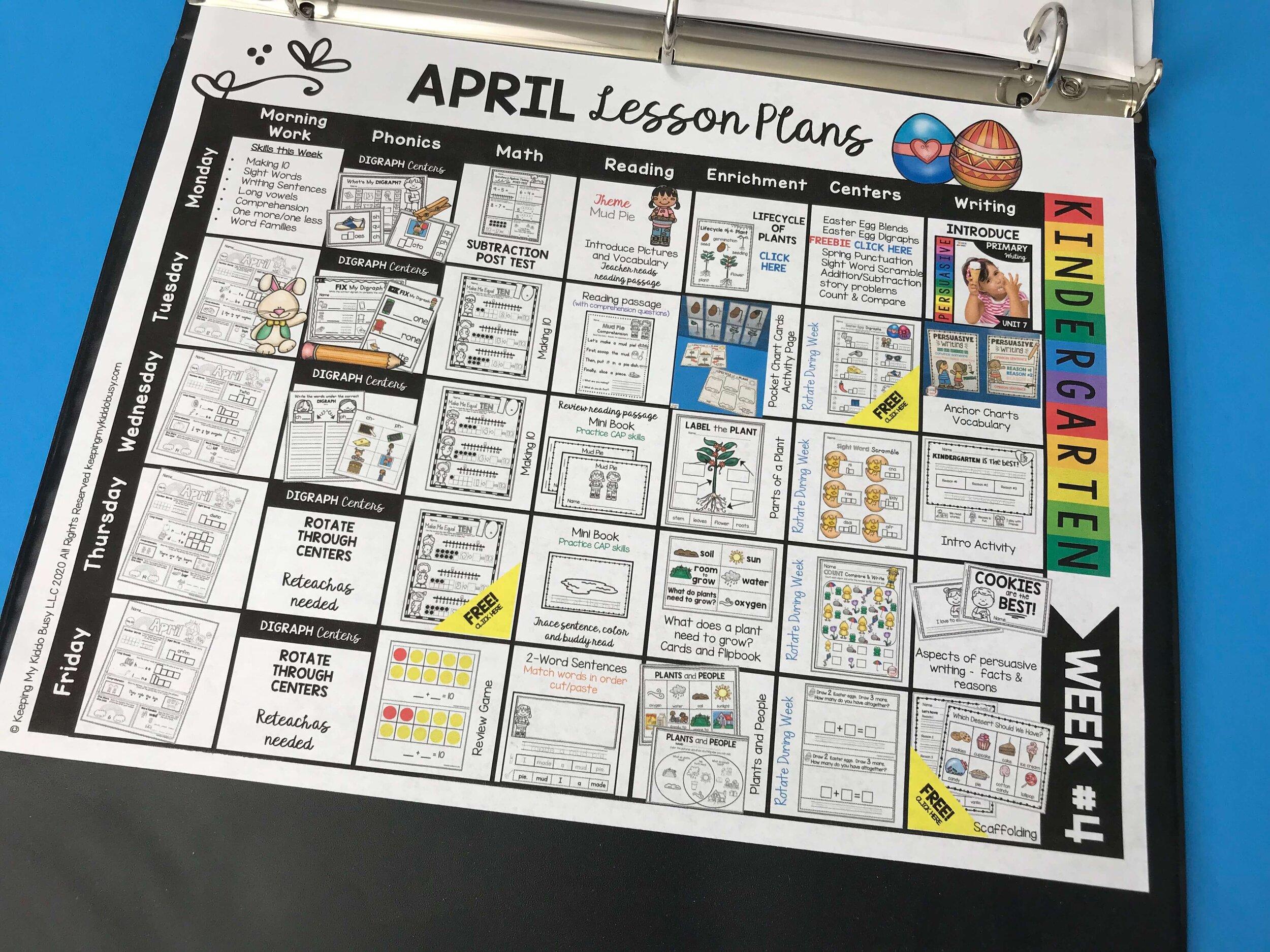 APRIL — Keeping My Kiddo Busy