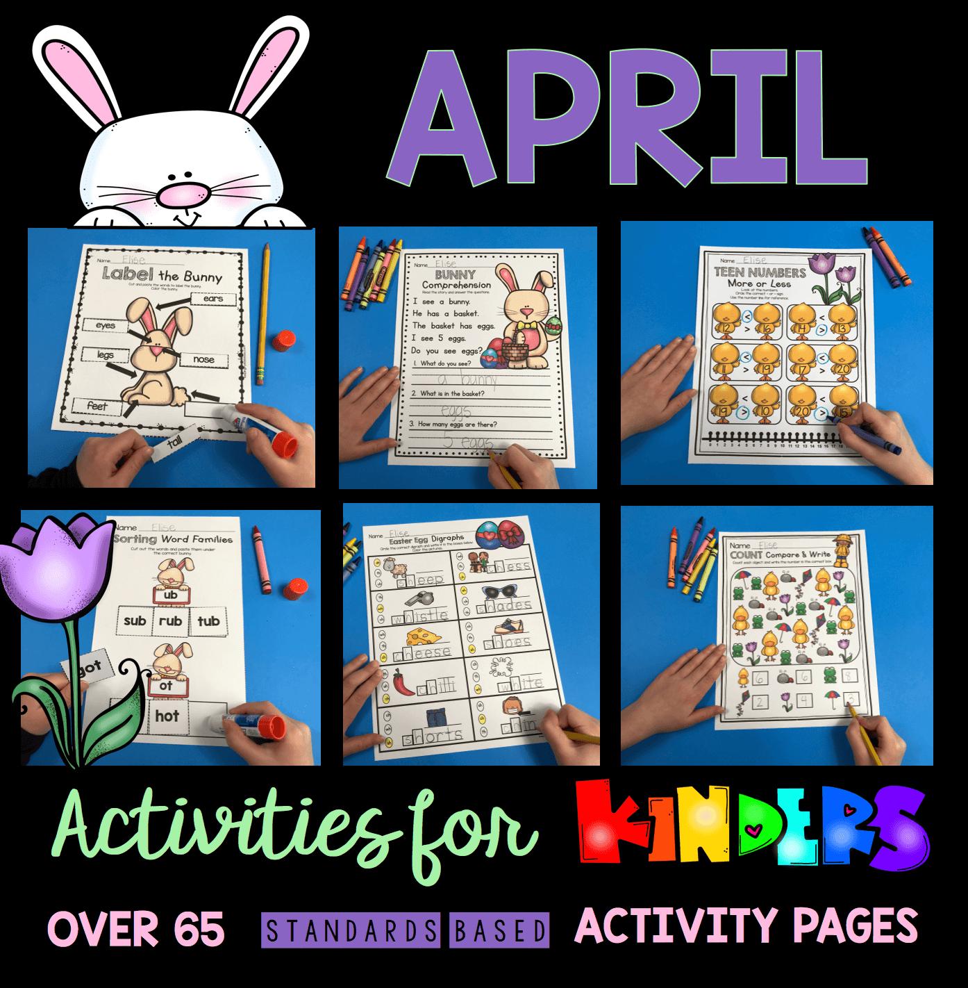 - April In Kindergarten - FREE WORKSHEETS — Keeping My Kiddo Busy