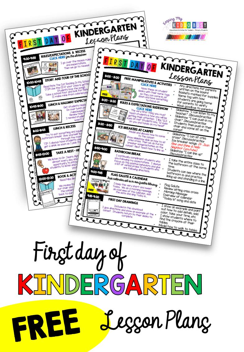 First Week In Kindergarten Keeping My Kiddo Busy