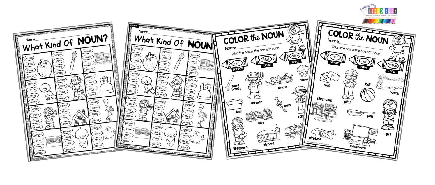 NOUNS Primary Grammar Unit 1 - FREE ACTIVITIES — Keeping My Kiddo Busy
