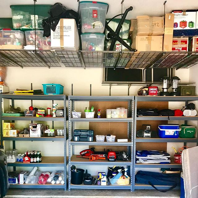 "Some jobs are a bit more glamorous than others- but man do I love it when I get to tackle a garage full of ""stuff"" and declutter it to the point of being able to fit everything onto shelves! Who needs help organizing, downsizing, and getting their Spring Cleaning done? Give us a call & we'd love to help! • • • • • #garageorganization #busymomlife #organization #dallasinteriordesign #dallasrealestate #love #inspiration #designinspiration #organizationideas #dallas #friscotx #mckinneytx #timesaver #interiordecor #pantry #pantryorganization #clean #inspohome #goals #beforeandafter #luxury #love #labels #kidfriendly #family #food #foodie #ilovemyclients #containyourself"