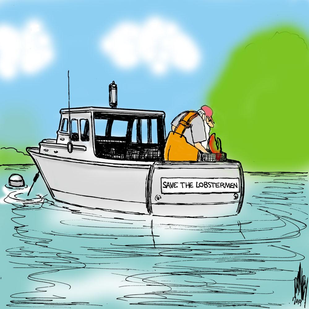 Cartoon by George Danby for Bangor Daily News Cartoons