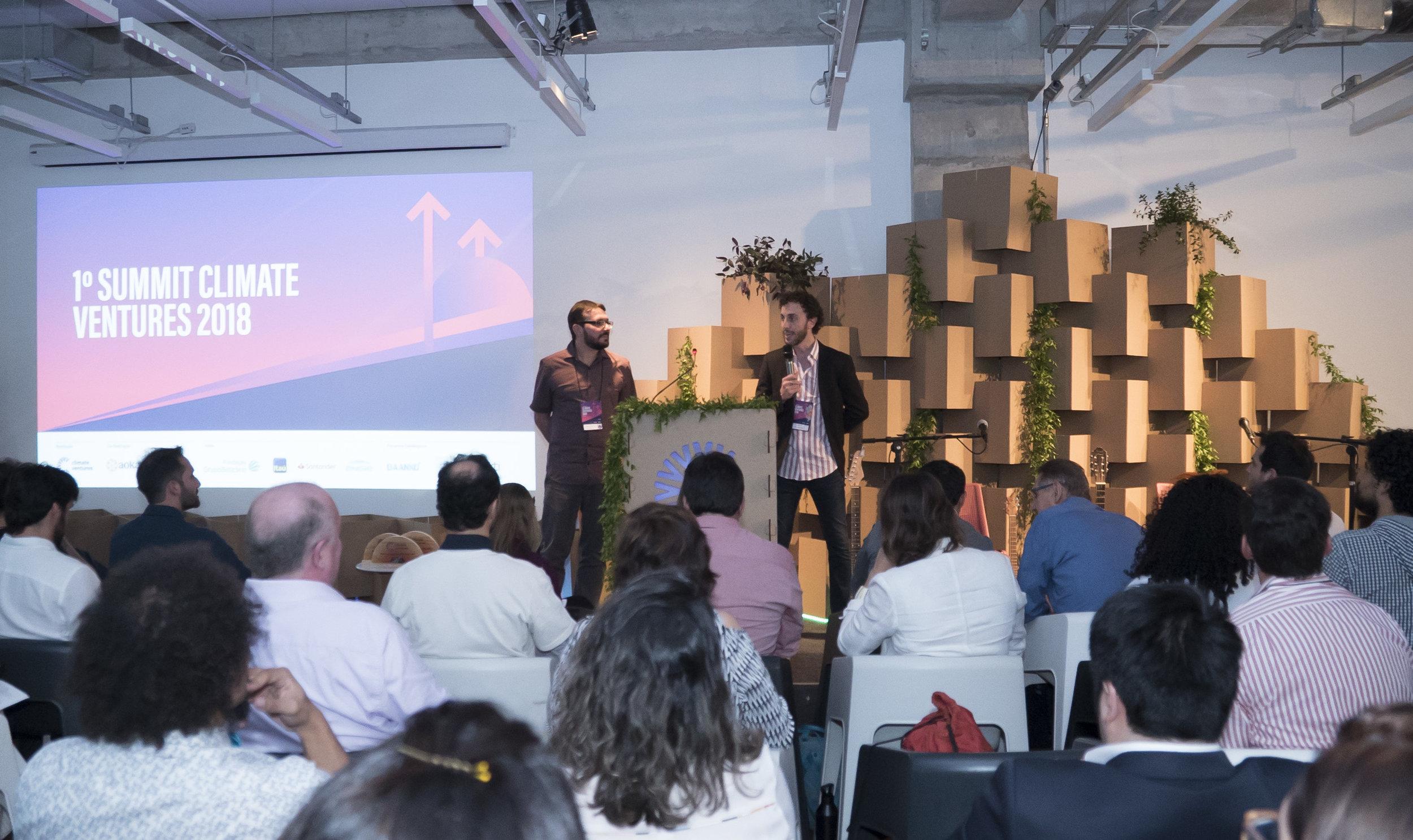 Ricardo Gravina and Daniel Contrucci from Climate Ventures.