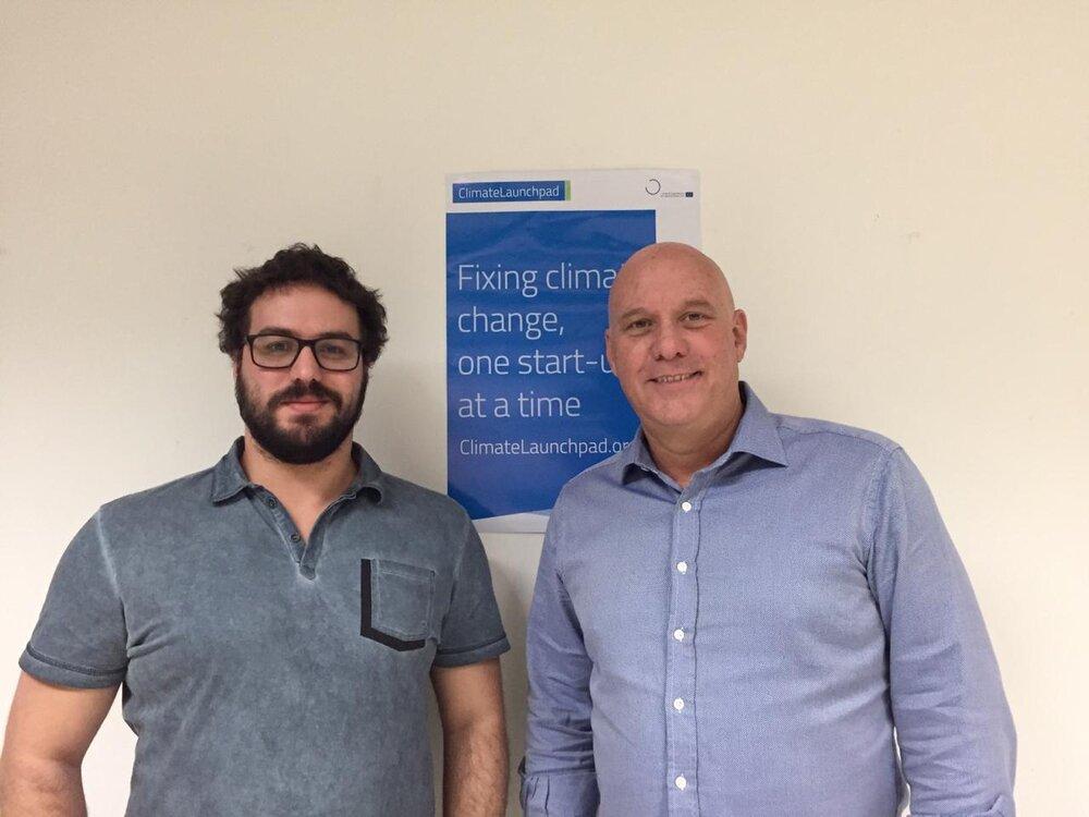 Artur Villela Ferreira e Eduardo Marson, da GBF, durante participação no Bootcamp.