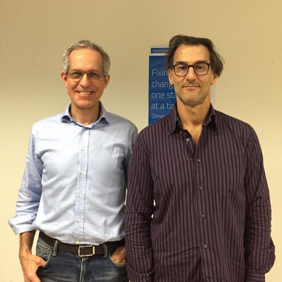 Marco Curatela (Diretor Financeiro e de Novos Negócios) e Daniele Cesano durante o bootcamp realizado em julho.