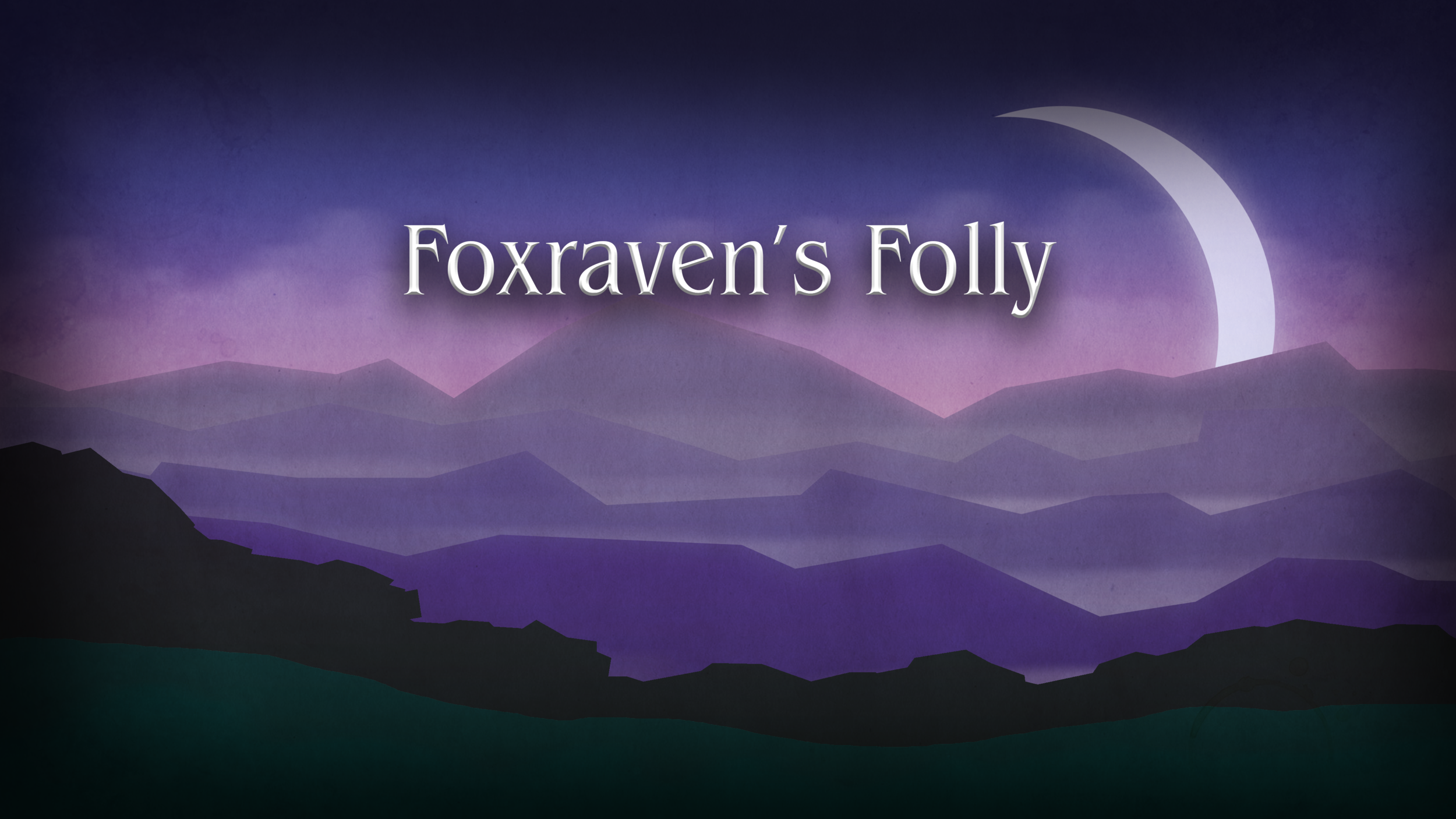 First (temporary) version of the title menu screen.