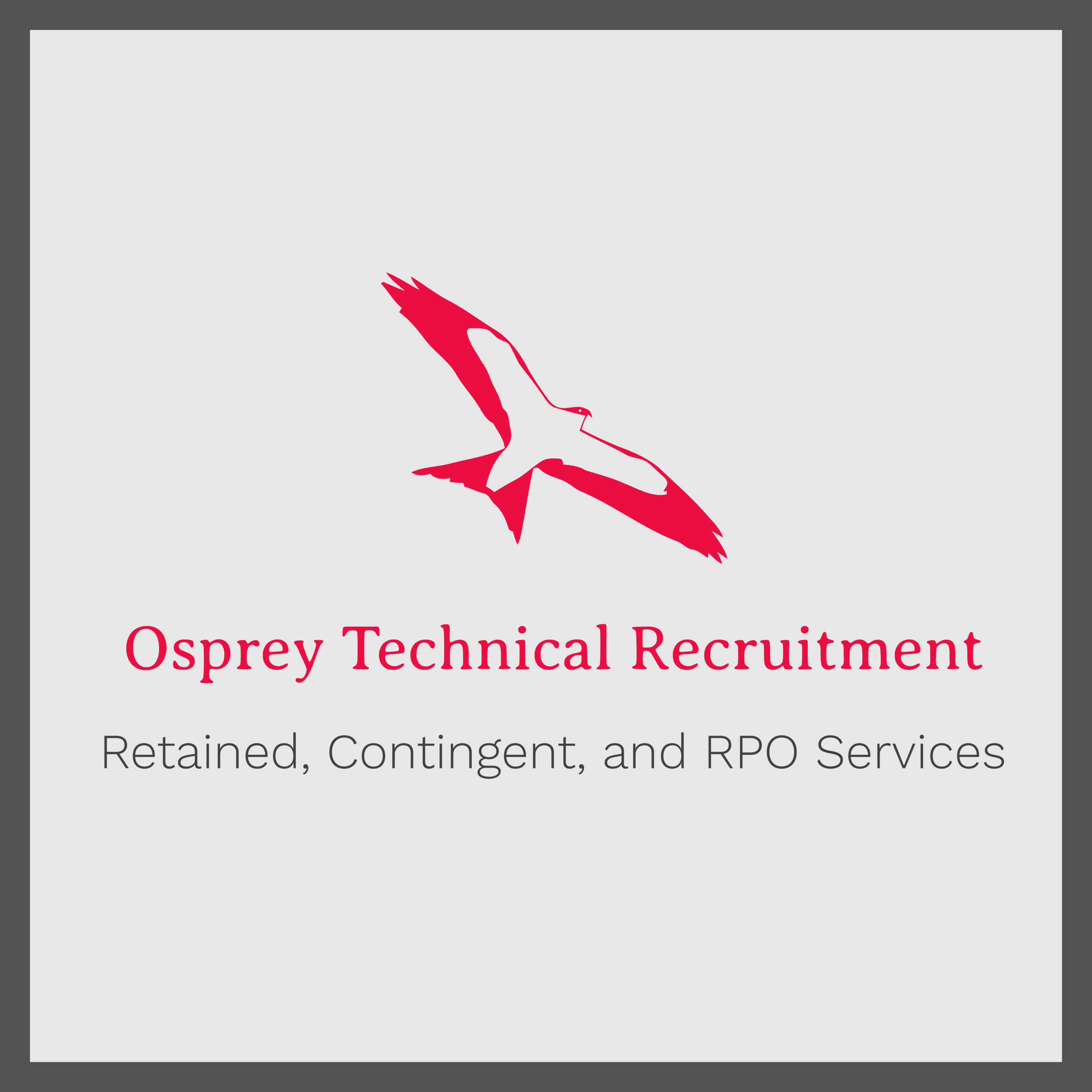 Osprey Technical Recruitment - Osprey Technical Recruitment™ provides engineering staff, software developers, front end designers, data analysts, systems engineers, help desk technicians, program architects and more through retained, contingent, or RPO delivery methods.