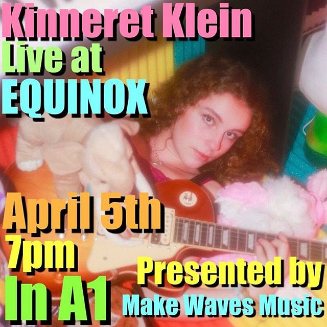 Kinneret Klein will be performing at our upcoming event, EQUINOX!! Come out and support at 7pm in room A-1 April 5! (swipe for a message from Kinneret)