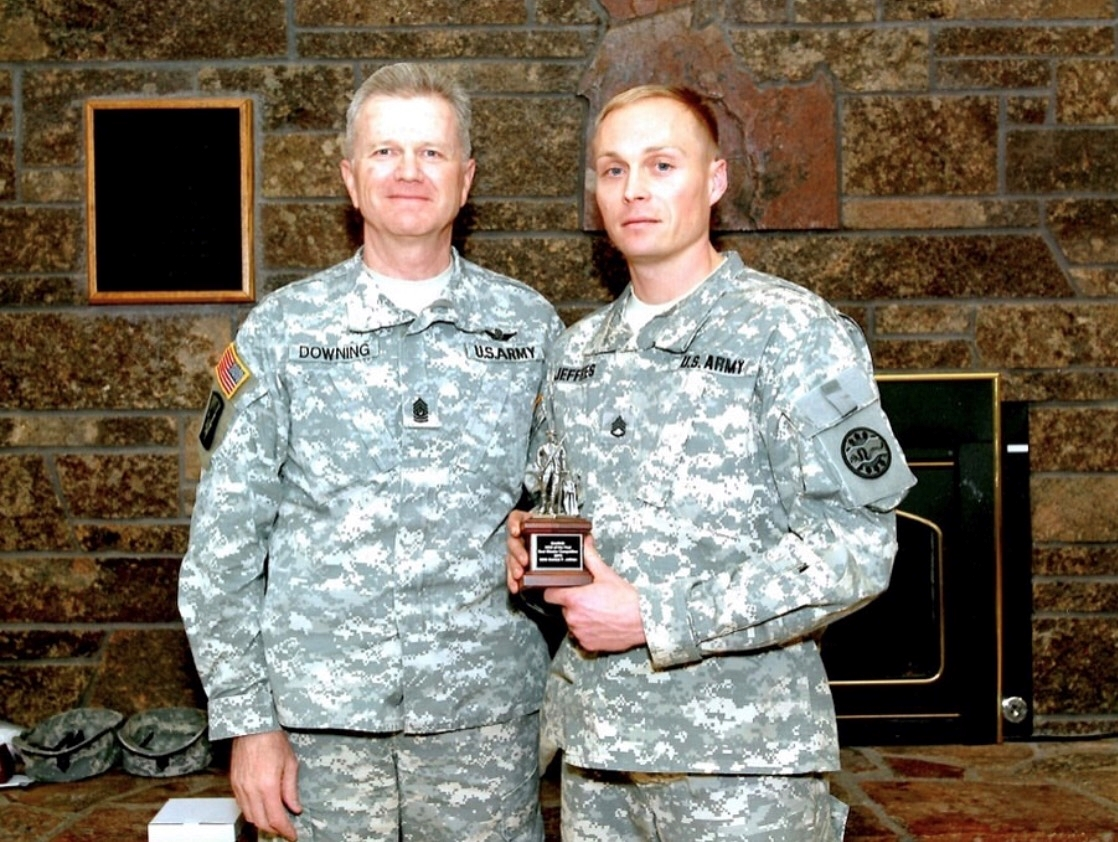 SSG. Conrad Jeffries (right) President and Founder of Shot at Dawn Project.