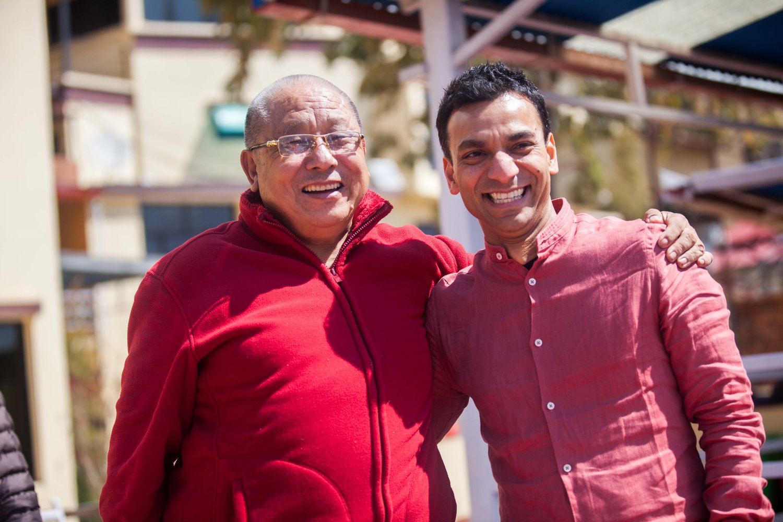 Lamala and Raj Patra at Karma Lekshey Ling Monastery, Kathmandu, Nepal