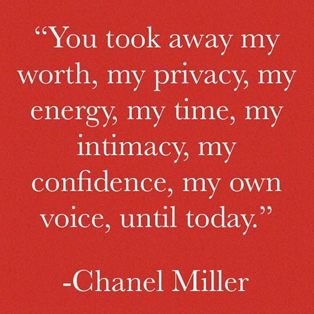 We praise you Chanel Miller. 📷 via @aequality19