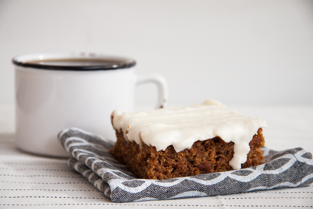 Vegan Carrot Cake,  with vegan cream cheese frosting