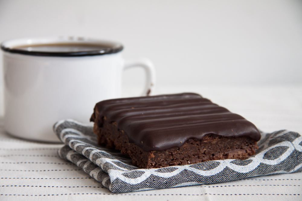 Chocolate Brownie, with chocolate ganache topping