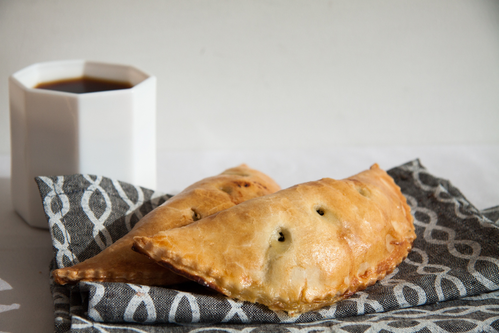 Coconut Curry Turnover, with   squash, chickpeas, potato, spinach & cauliflower