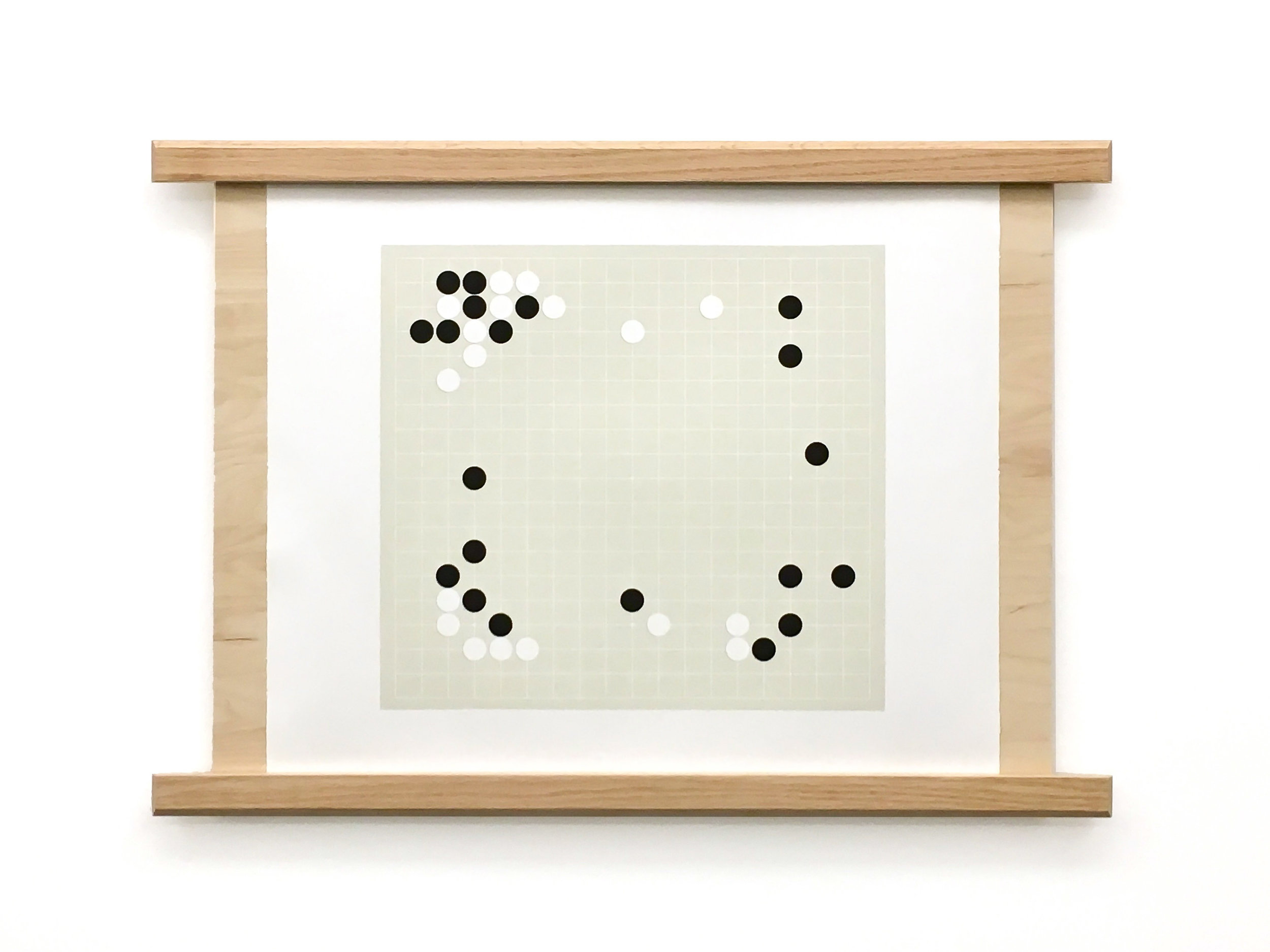 "Learning From One's Mistakes (Game 2, Move 37) Lithograph with Wood Support 22"" x 23"""