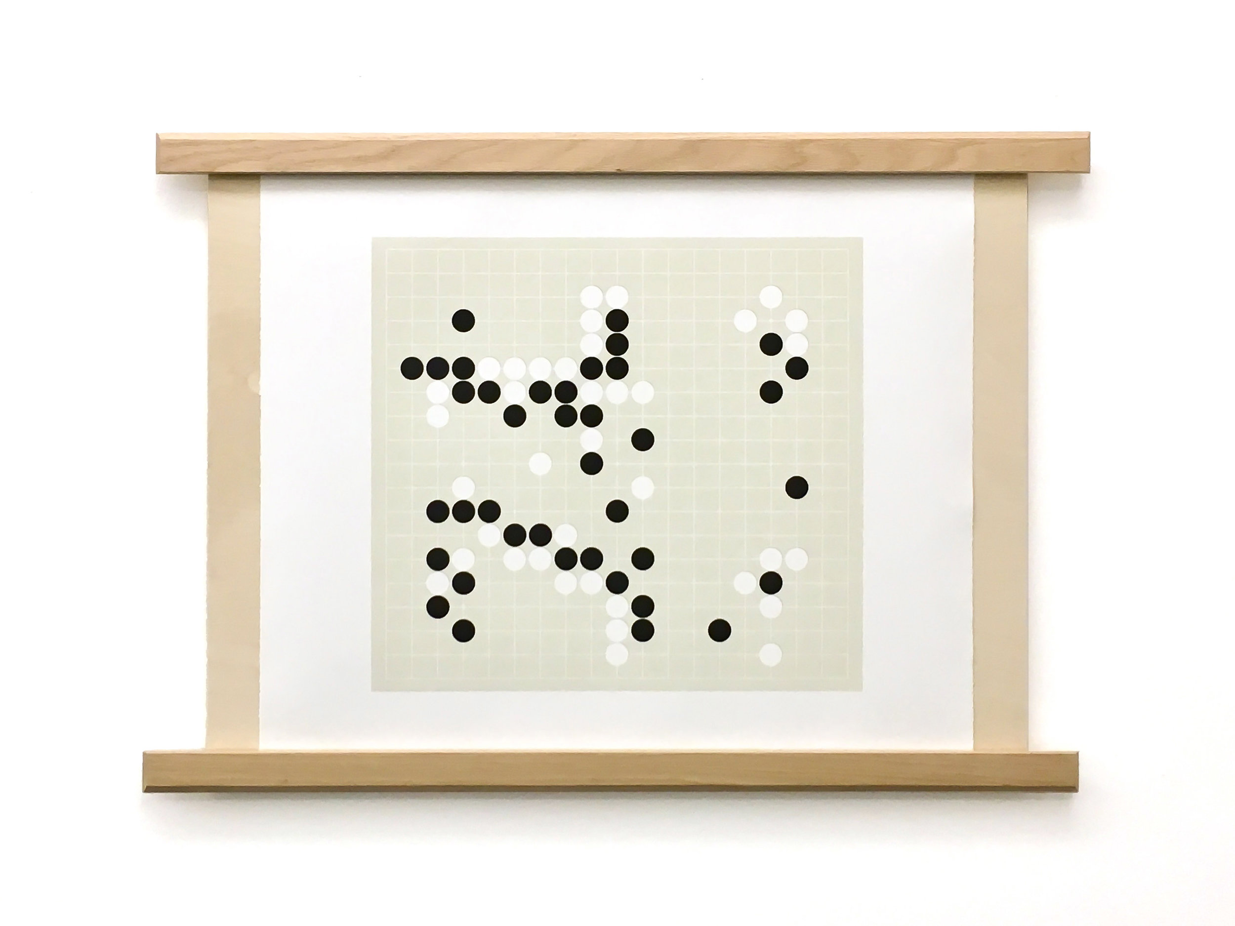 "Learning From One's Mistakes (Game 4, Move 78) Lithograph with Wood Support 22"" x 23"""