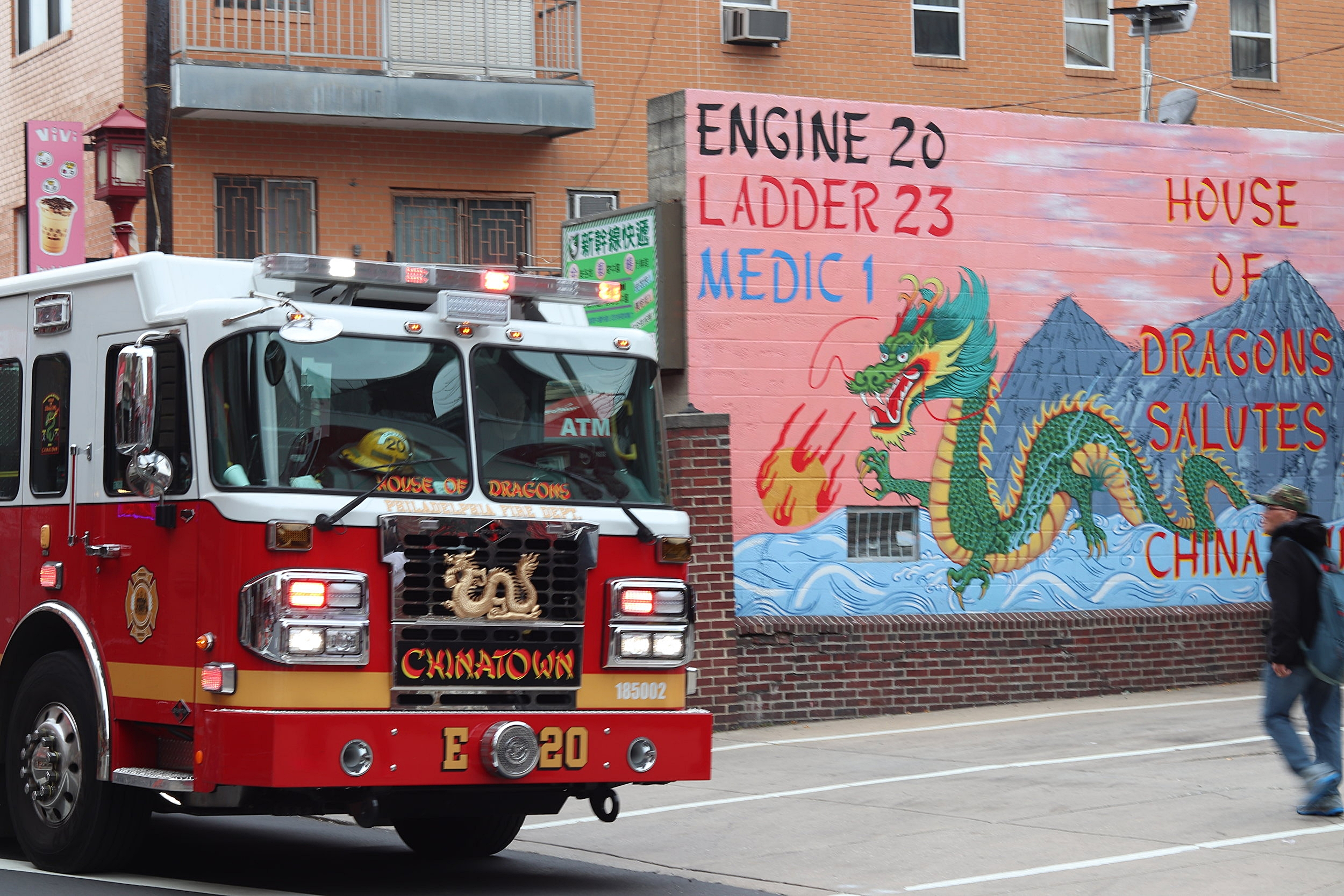 Check out the Chinatown fire truck!