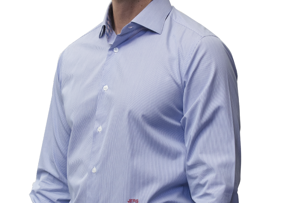 Blue stripe shirt 160s cotton