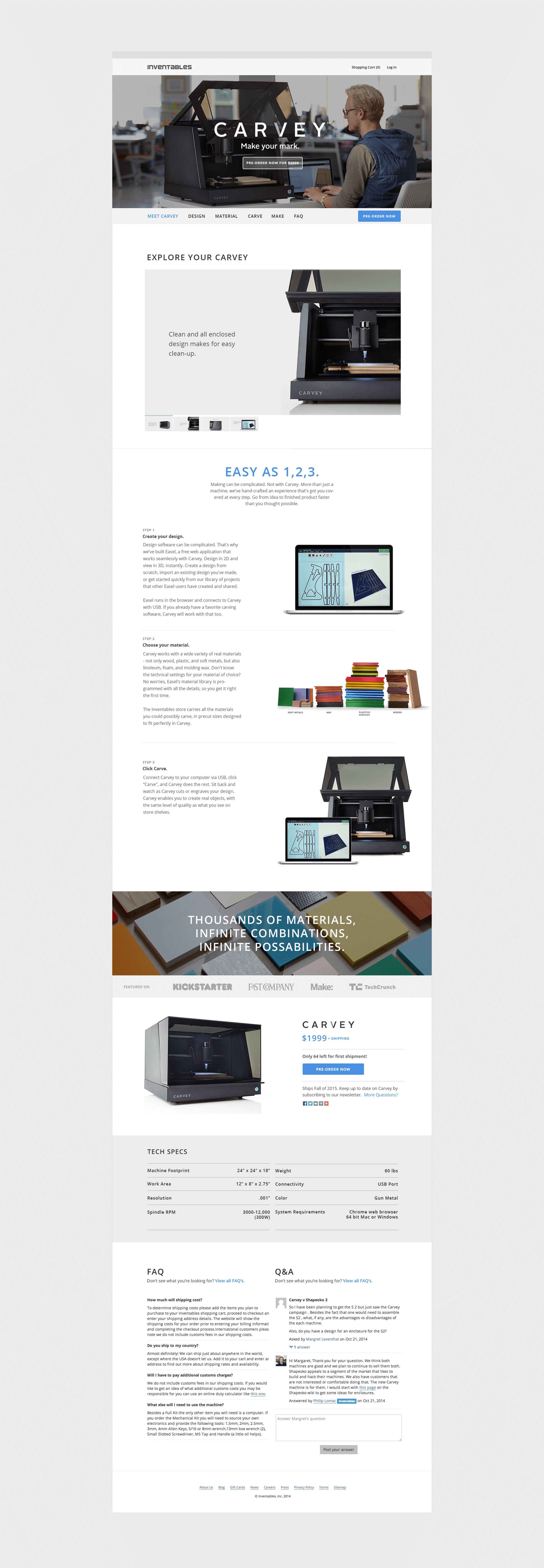 Product page to preorder Carvey