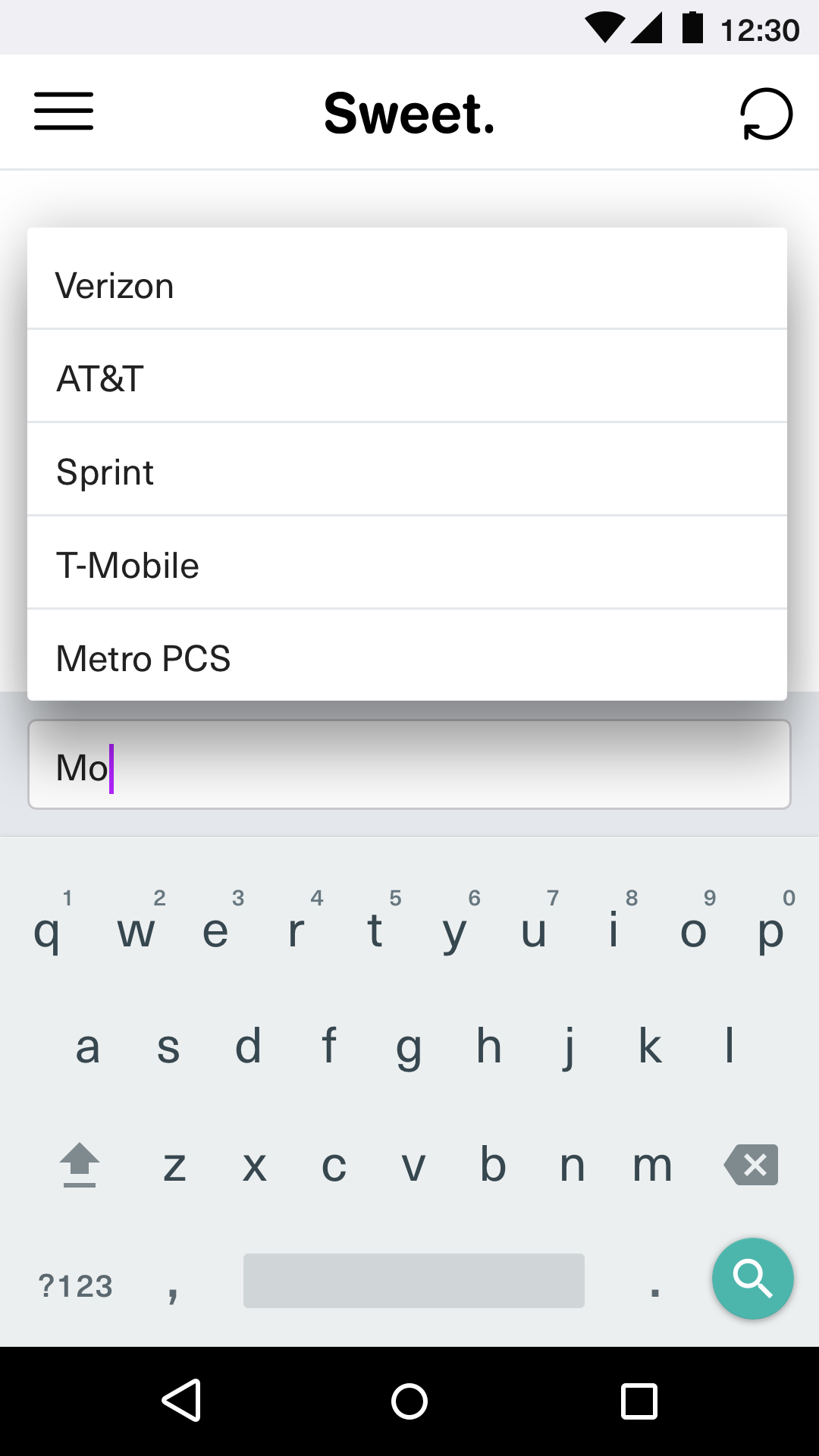 Carrier Autocomplete