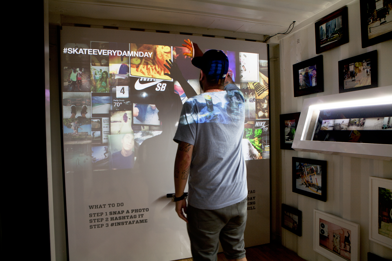container#2: 10 years of Nike Sb arcade slider and interactive #skateeverydamnday social media aggregator wall