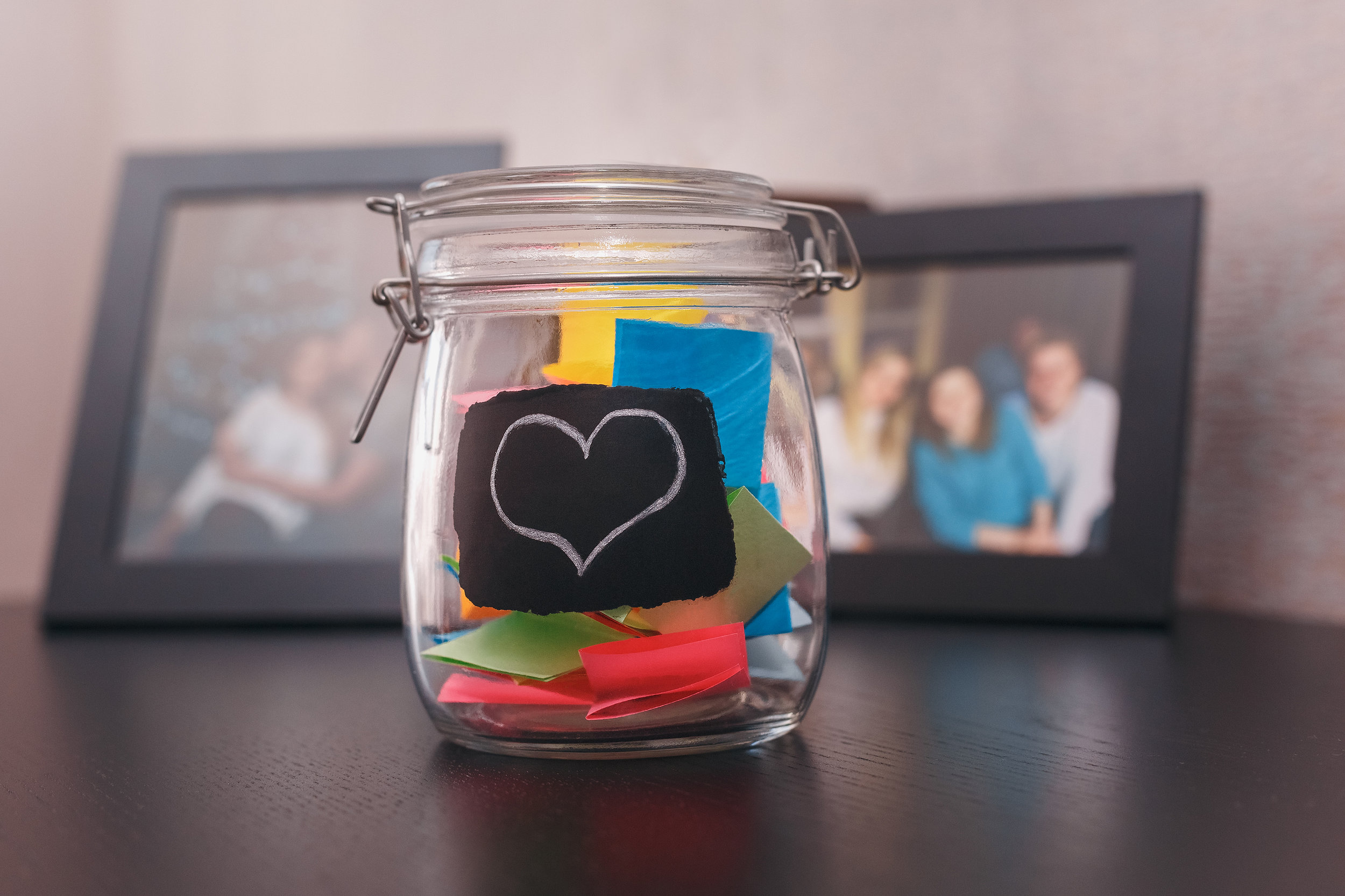 Create a grateful jar to write down things you're grateful for. On bad days, read some of the notes to remind you.