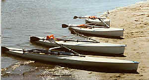 Our first 'fleet' of rowing boats!