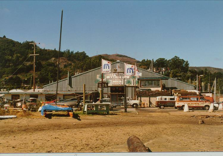 1985 - Schoonmaker building, pre-marina. Early Sausalito - very funky, very fun. Complete with hot tub and refrig containing keg of Killian's Red next to the pool table.