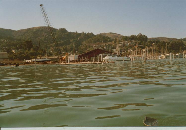 1986 - Schoonmaker Marina and building under construction. OWR moves to a temporary location during construction. We expected to be in that temporary spot for a few months...we were there for year and a half.