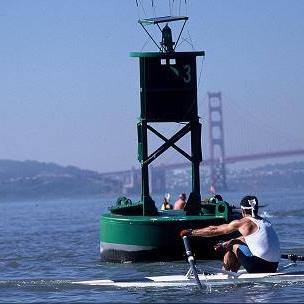 Ken Robinson in the early 1990s - this #3 Buoy is still an iconic mark on the Bay!