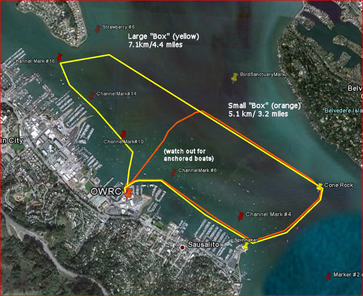Richardson Bay Loop - click to enlarge map.