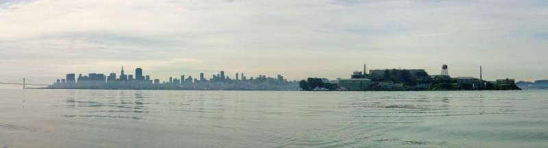 Returning from Alcatraz towards Angle Is. on an exceptionally calm day