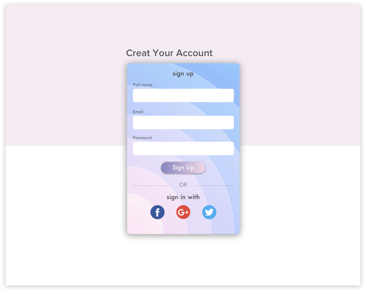 Daily UI #001 // Sign Up