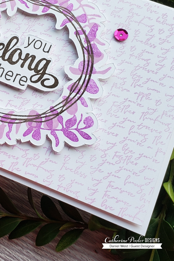 Catherine Pooler Designs Adoring You Stamp of Approval Card by Daniel West