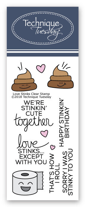 Love Stinks Stamp Set from Technique Tuesday