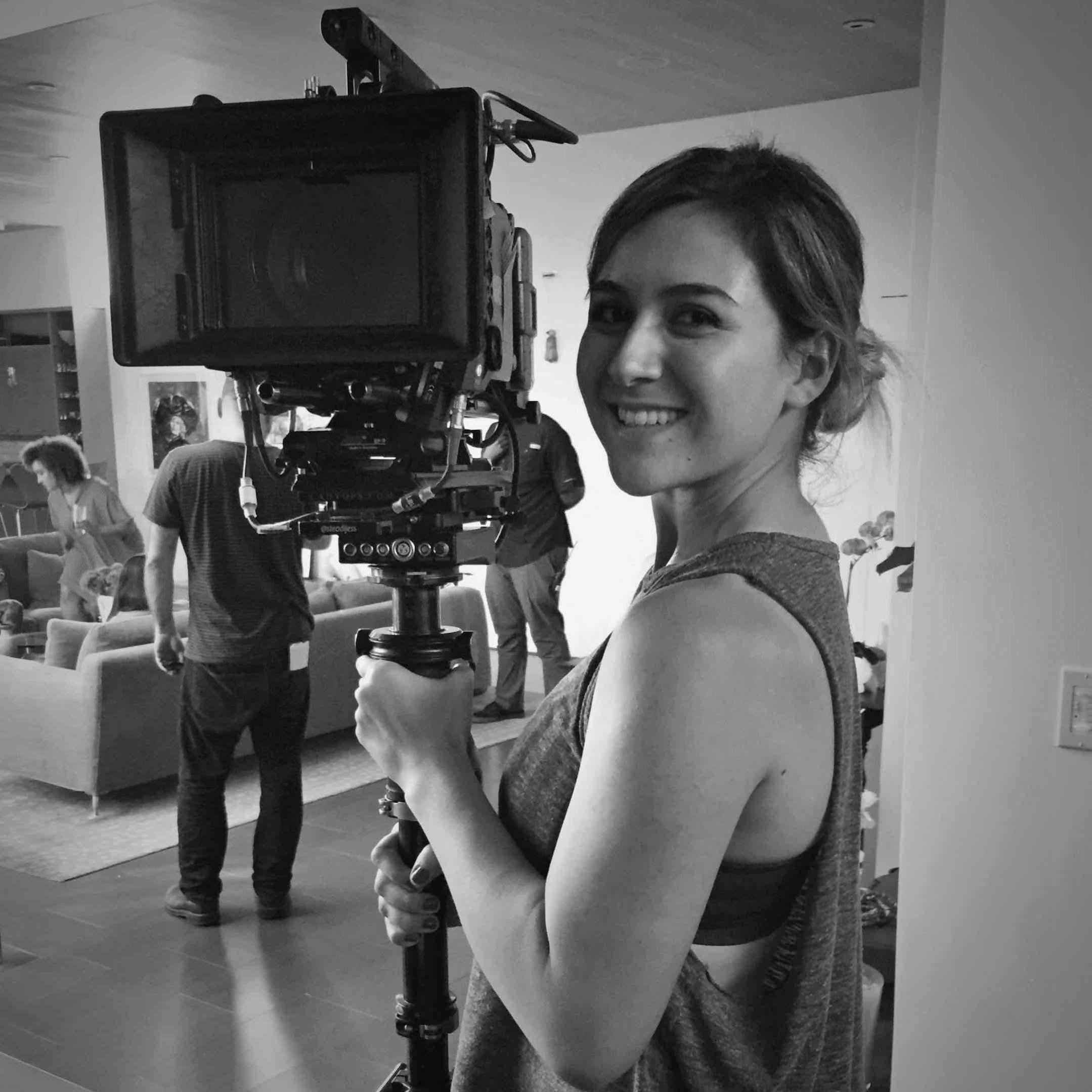 Christine Adams: Director of Photography + Camera Op  With a love for camera movement, she specializes in Steadicam and Movi operating. Her favorite element of cinematography is finding a compelling frame to help tell a story.  Instagram:  @camera.christine