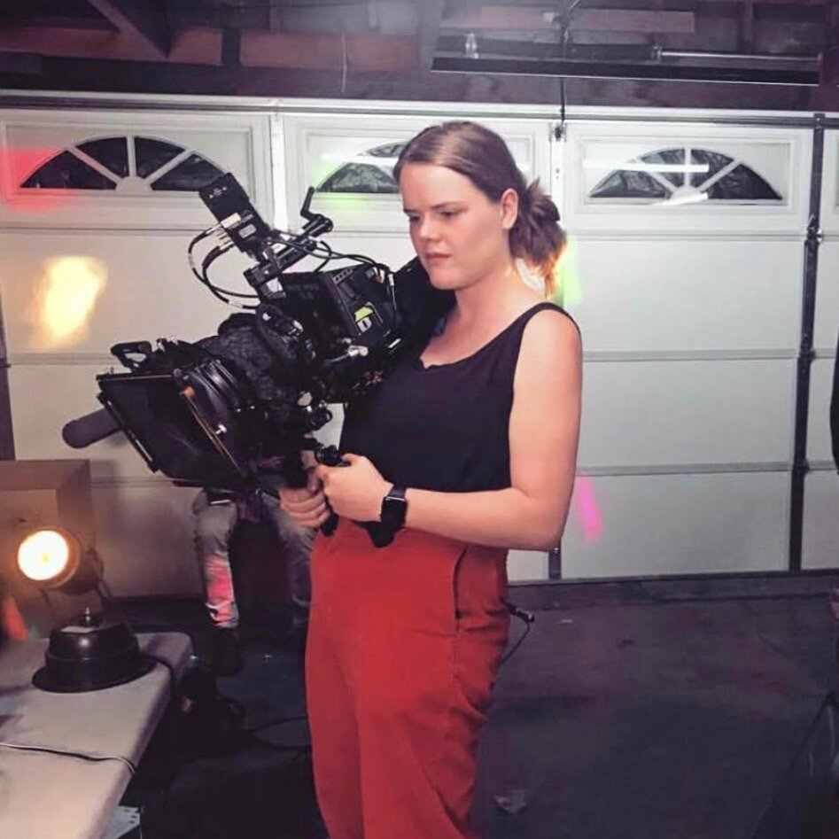 Arin Meyer: DP + Gaffer  Arin Meyer is a director of photography and gaffer who loves shooting music videos and narrative films, taking on one project at a time with her Red in one hand and her dog Blue in the other.  Instagram: @arinmeyer