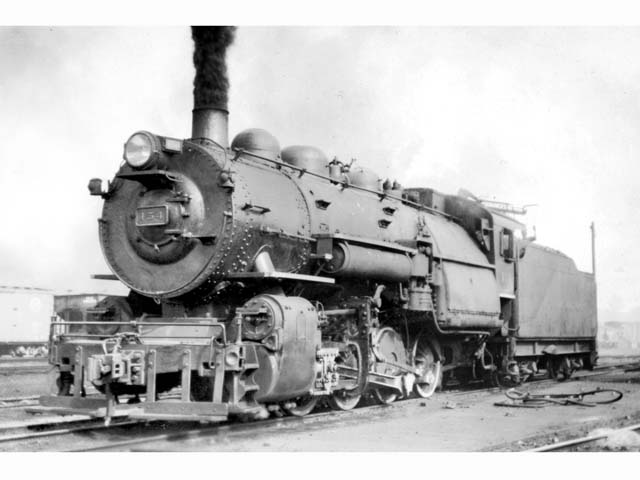 D&H 154 TYPE:  0-8-0  CLASS:  B-7  DATE:  8/1/46  LOCATION:  Carbondale, PA  NOTES:  Rebuilt from 2-8-0 E-4 #1020 in April, 1927, sold to Luria in February, 1953.  PHOTOGRAPHER:  Charles Elston,  (Jim Wright Collection)