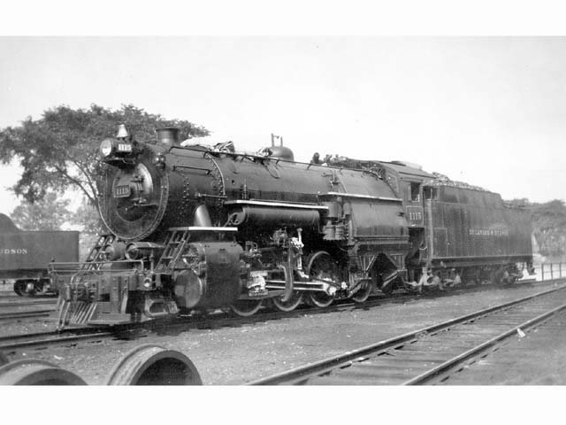 D&H 1115 TYPE:  2-8-0  CLASS:  E-5a  DATE:  1946  LOCATION:  Binghamton, NY  PHOTOGRAPHER:  Charles Elston,  (Jim Wright Collection)