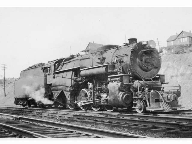D&H 1210 TYPE:  2-8-0  CLASS:  E-6a  DATE:  1946  LOCATION:  Carbondale, PA  PHOTOGRAPHER:  Charles Elston,  (Jim Wright Collection)